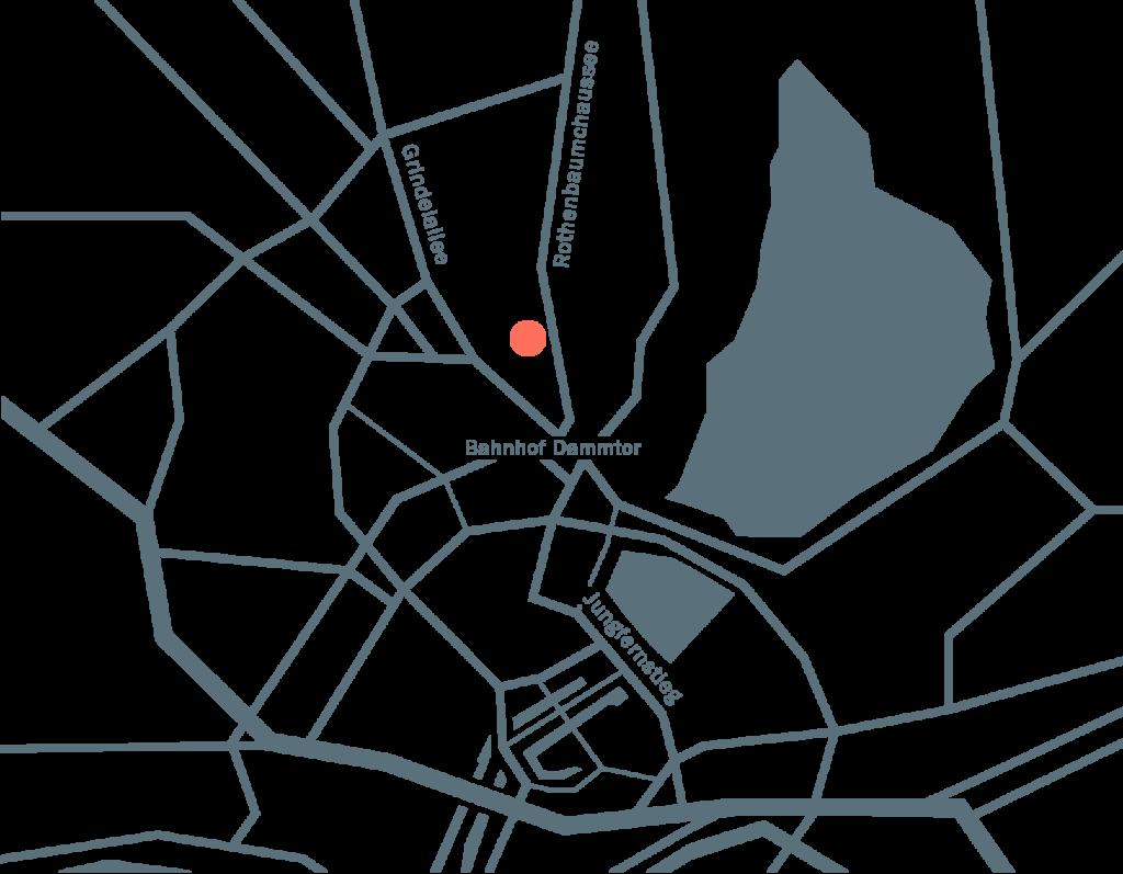 Anfahrtsskizze Hamburg